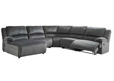 Clonmel Charcoal Reclining LAF Power Chaise Sectional