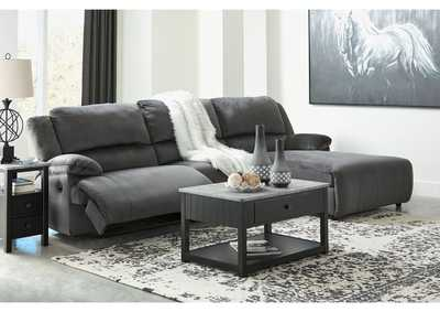 Clonmel Charcoal 3 Piece RAF Chaise Sectional