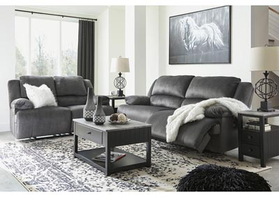 Clonmel Charcoal 2 Seat Reclining Sofa & Loveseat,Signature Design By Ashley