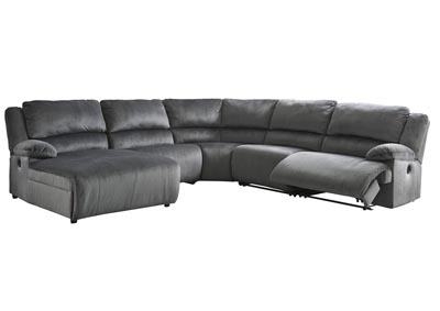 Clonmel Charcoal Right-Arm Facing Chaise Sectional