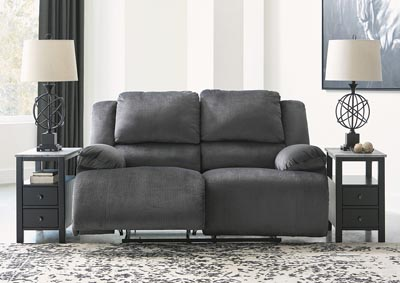 Clonmel Charcoal Reclining Loveseat,Signature Design By Ashley