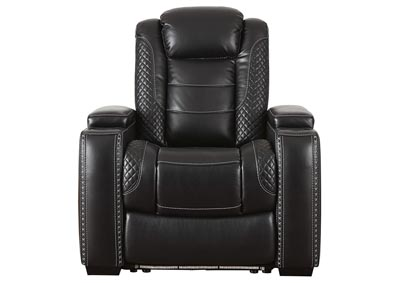 Image for Party Time Midnight Power Recliner w/Adjustable Headrest