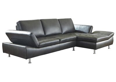 Carrnew Gray Left-Arm Facing Sofa Chaise