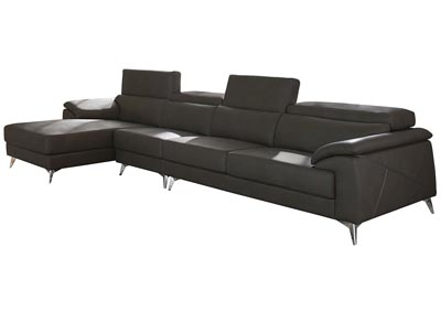 Tindell Gray Extended Right Facing Loveseat Chaise Sectional