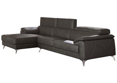 Tindell Gray Right Facing Loveseat Chaise Sectional
