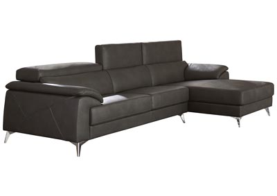 Tindell Gray Left Facing Loveseat Chaise Sectional