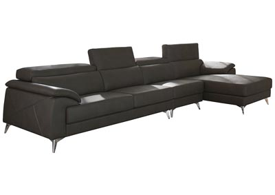 Tindell Gray Extended Left Facing Loveseat Chaise Sectional