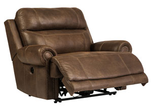 Austere Brown Zero Wall Power Wide Recliner