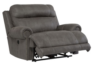 Austere Gray Zero Wall Power Wide Recliner
