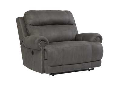 Image for Austere Gray Zero Wall Power Wide Recliner