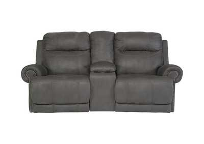 Image for Austere Gray Double Reclining Loveseat w/ Console
