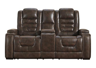 Image for Game Zone Power Reclining Loveseat w/Adjustable Headrest & Console