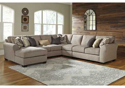 Pantomine Driftwood Left Facing Corner Chaise Sectional w/Chair and Right Facing Loveseat