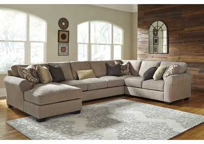 Pantomine Driftwood Left Facing Corner Chaise Sectional w/Sofa and Right Facing Loveseat