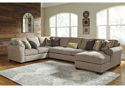 Pantomine Driftwood Left Facing Loveseat w/Sofa and Right Facing Corner Chaise