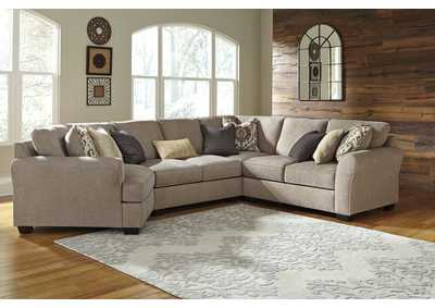 Pantomine Driftwood Sectional w/Left Facing Cuddler