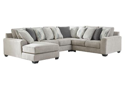 Ardsley Pewter Left-Arm Facing Chaise Sectional