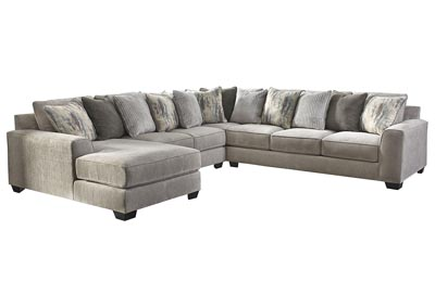 Ardsley Pewter LAF Chaise Sectional