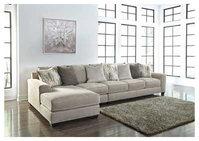 Ardsley Pewter 3 Piece LAF Chaise Sectional