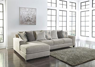 Ardsley Pewter 2 Piece LAF Chaise Sectional