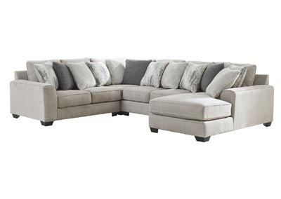 Ardsley Pewter Right-Arm Facing Chaise Sectional