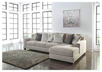 Ardsley Pewter 2 Piece RAF Chaise Sectional