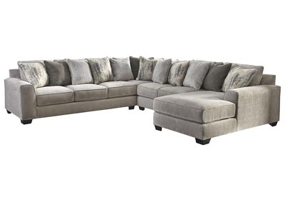 Ardsley Pewter RAF Chaise Sectional