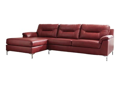 Tensas Crimson Left Facing Sectional