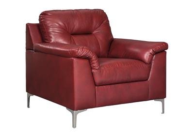 Delicieux Tensas Crimson Chair