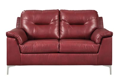 Tensas Crimson Loveseat