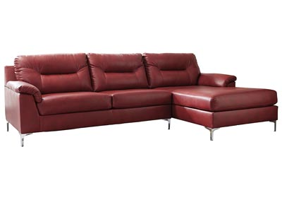 Tensas Crimson Right Facing Sectional