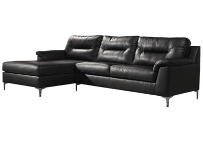 Tensas Black Left Arm Facing Sectional