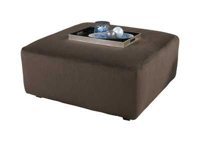 Image for Jessa Place Chocolate Oversized Accent Ottoman