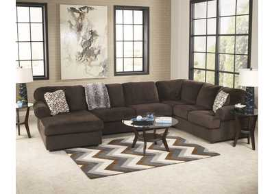 Jessa Place Chocolate LAF Chaise Sectional