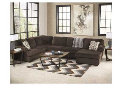 Jessa Place Chocolate RAF Chaise Sectional