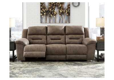 Stoneland Gray Power Reclining Sofa