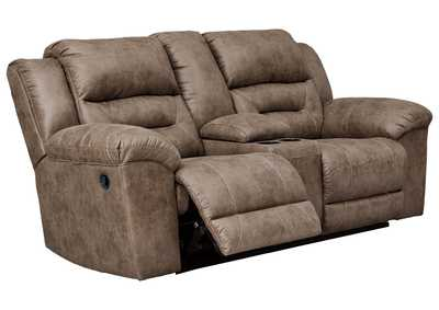 Stoneland Fossil Reclining Loveseat w/Console