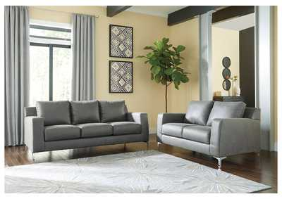 Ryler Charcoal Sofa & Loveseat