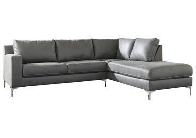 Ryler Charcoal RAF Sofa Chaise