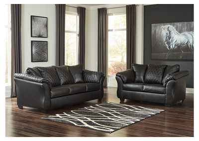 Bertrillo Black Sofa & Loveseat