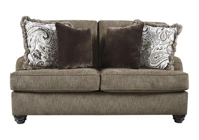 Braemar Brown Loveseat w/4 Pillows