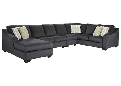 Eltmann Slate LAF Chaise Long Sectional