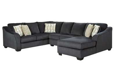 Eltmann Slate 3-Piece Sectional with Chaise