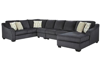 Eltmann Slate RAF Chaise Long Sectional