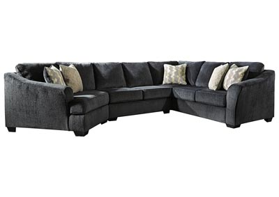 Eltmann Slate Sectional w/Power Recliner