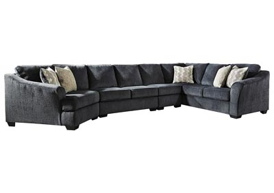 Eltmann Slate 4 Piece Sectional w/RAF Sofa & Corner Wedge