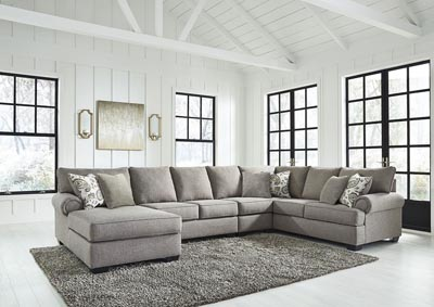 Renchen Pewter LAF Chaise Sectional