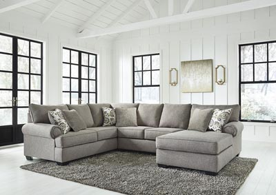 Renchen Pewter RAF Chaise Sectional