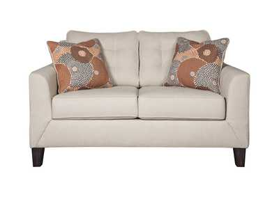 Benissa Alabaster Fabric Loveseat