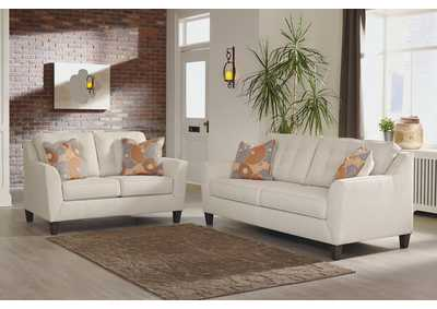 Benissa Alabaster Fabric Sofa and Loveseat
